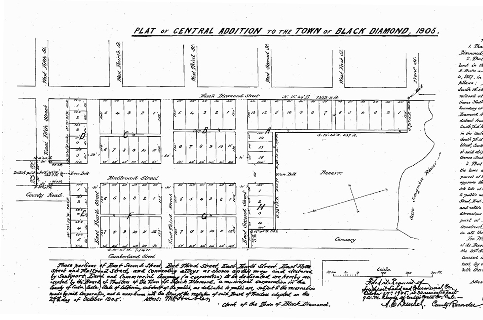 Southport Land had many contributions to the history of Pittsburg, California, including this 1905 subdivision.