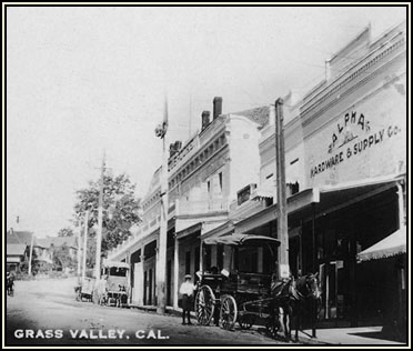 Early Postcard Downtown Grass Valley, CA
