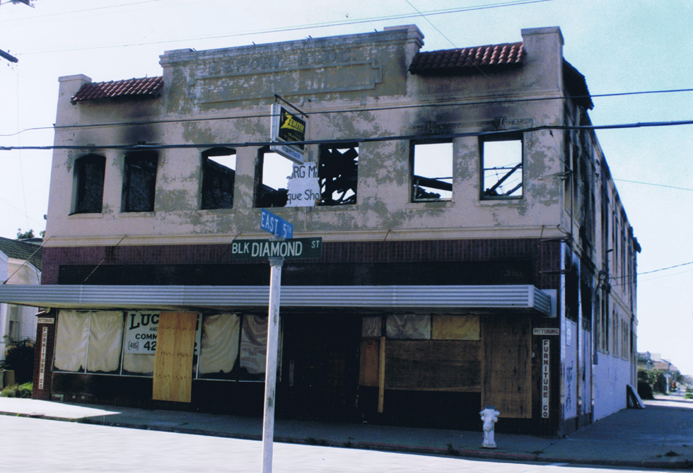 Lepori Building, Pittsburg, California, after the fire.