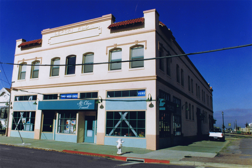 Lepori Building, Pittsburg, California, after the restoration and before the construction of the plaza.