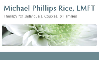 Collage of images from former website of Michael Phillips Rice, LMFT, Grass Valley, CA.