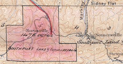 1896 topo map of Somersville and Nortonville, California
