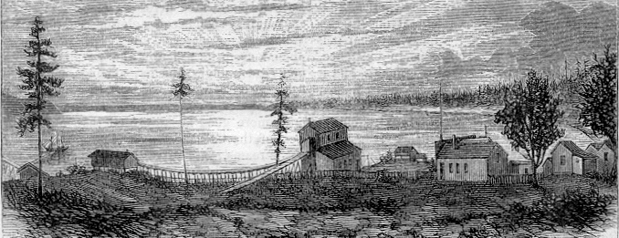 Bellingham Bay Coal Mine, Sehome, Washington, 1869