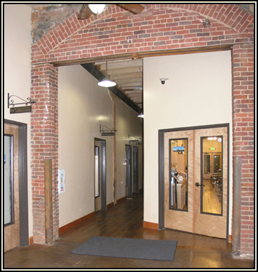 Brick arch in the Alpha Building, Grass Valley, CA