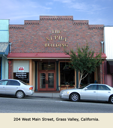Offices for lease at 204 W. Main St., Grass Valley, CA.