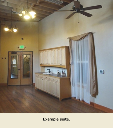Example retail space for rent in Grass Valley, CA.