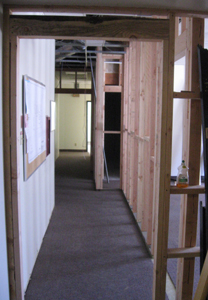 Framing between commercial units and common area
