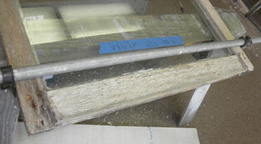 Thixotropic structural epoxy adhesive used on window frame