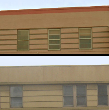 Example of Streamline Moderne double hung windows