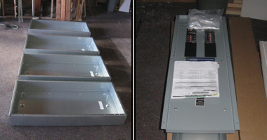 Three-phase sub-panels in storage
