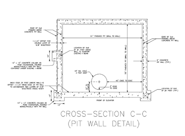 Elevator Pit Specifications