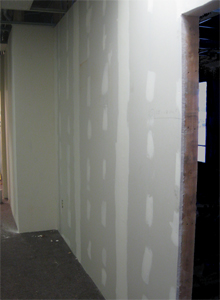 Sheetrock in Common Area at 610 Court Street