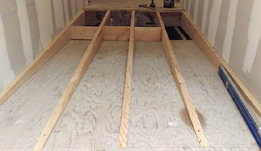 Framing for an ADA compliant ramp.