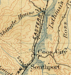Southport, Oregon topographical map